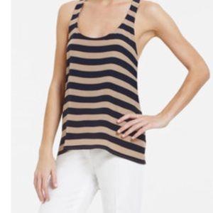 Bcbgmaxazria Edita Twist-Back Striped Silk Tank
